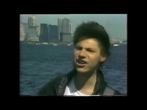 Pseudo Echo performing 'Try' on Countdown with a live cross to Brian Canham in New York