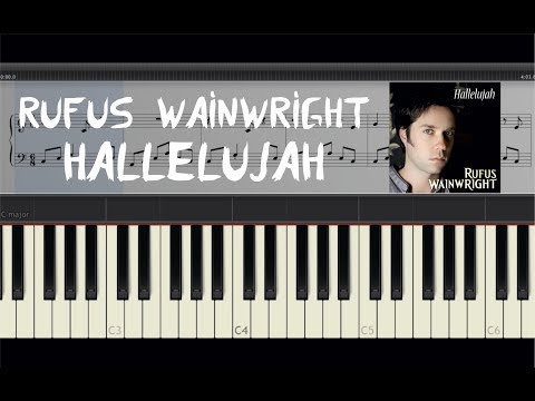 Rufus Wainwright - Hallelujah - Piano Tutorial by Amadeus (Synthesia) [Sheets]
