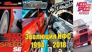 Эволюция серии игр Need For Speed (1994 - 2018)