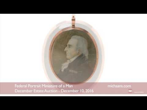 Federal Portrait Miniature of a Man - Michaan