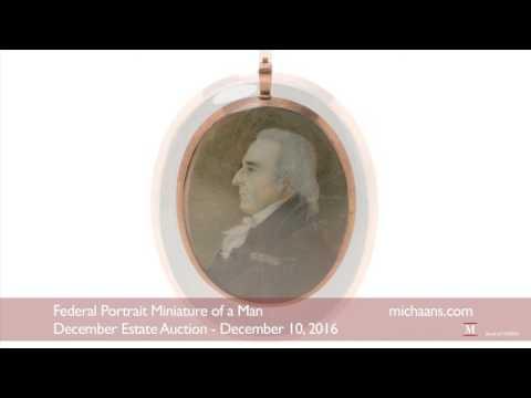Federal Portrait Miniature of a Man - Michaan