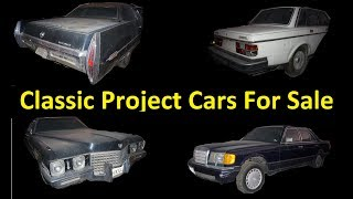 Buy Classic Muscle EURO ~ Old Cars For Sale ~ Barn Find Projects
