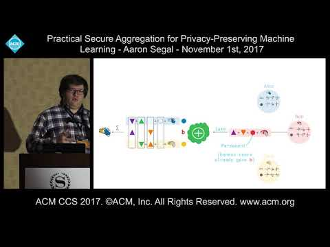 11 1 17 ACM CCS   Aaron Segal   Practical Secure Aggregation Machine Learning