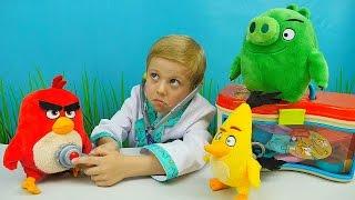 ЗЛЫЕ ПТИЧКИ ANGRY BIRDS Red and Chuck и Доктор Даник - Развивающий мультик про Злых Птичек и Хрюшку
