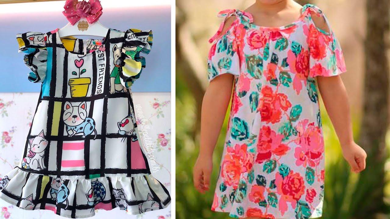 Espectaculares vestidos de niñas fáciles de hacer