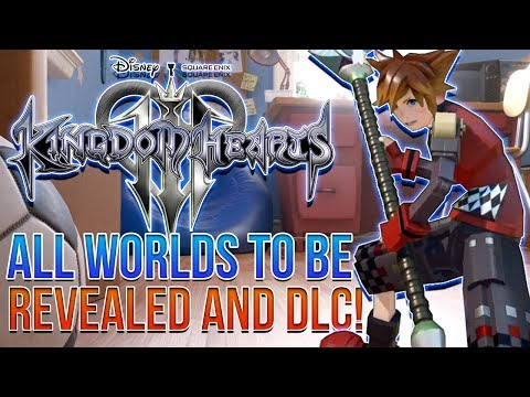 Kingdom Hearts 3 News - All Worlds to Be Revealed and DLC Possible