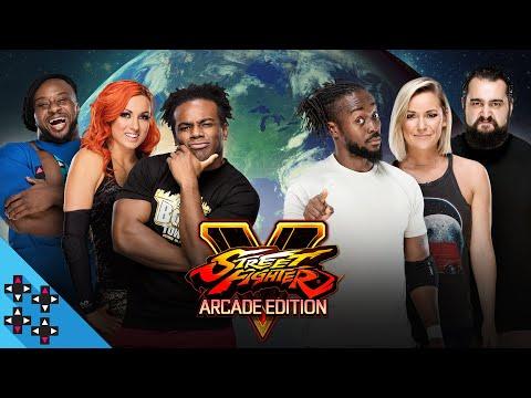 TEAM 24/7 (Kofi, Renee & Rusev) vs. TEAM CREED (Creed, E & Becky): STREET FIGHTER V - Gamer Gauntlet |