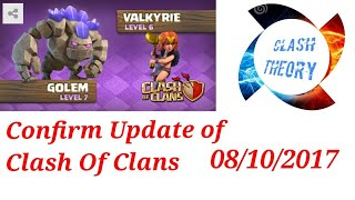 08/10/2017 CONFIRM UPDATE......CLASH OF CLANS