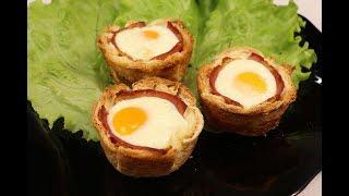 Невероятно Вкусный и Интересный Завтрак! Тостовые Маффины С Яичницей!