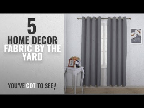 Top 10 Home Decor Fabric By The Yard [2018 ]: NICETOWN Blackout Curtains Panels for Bedroom - Three