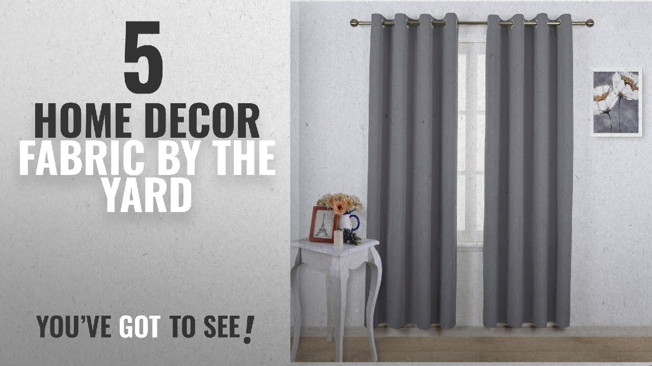 Top 10 Home Decor Fabric By The Yard 2018 NICETOWN Blackout Curtains Panels For Bedroom