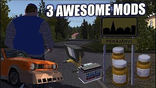 My Summer Car - 3 AWESOME MODS (HORSE PILLS, FLOODLIGHT, BODY KIT)