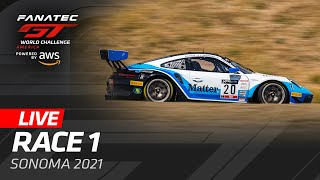 LIVE - SONOMA RACE 1 - GT WORLD CHALLENGE AMERICA 2021