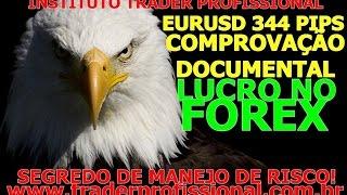 Curso de forex - EURUSD 344 pips de lucro comprovados e um segredo de manejo de risco
