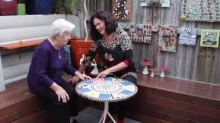 Margaret Bolton Seeing Her Mosaic Table 10/06/2015 For The First Time.