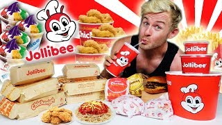 THE SUPERCHARGED JOLLIBEE MENU CHALLENGE! (10,000+ CALORIES)