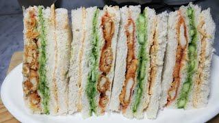 Zinger Club Sandwich  Break fast  Lunch  Dinner Recipe (Recipe#108)
