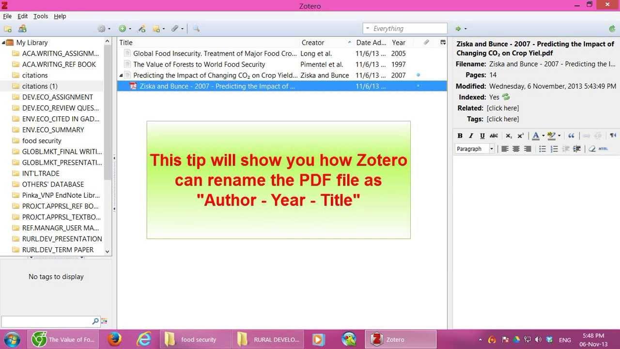 Z9 Zotero Rename Pdf File From Parent Metadata
