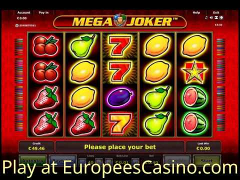 Mega Joker Video Slot - Play online Novomatic games for Free