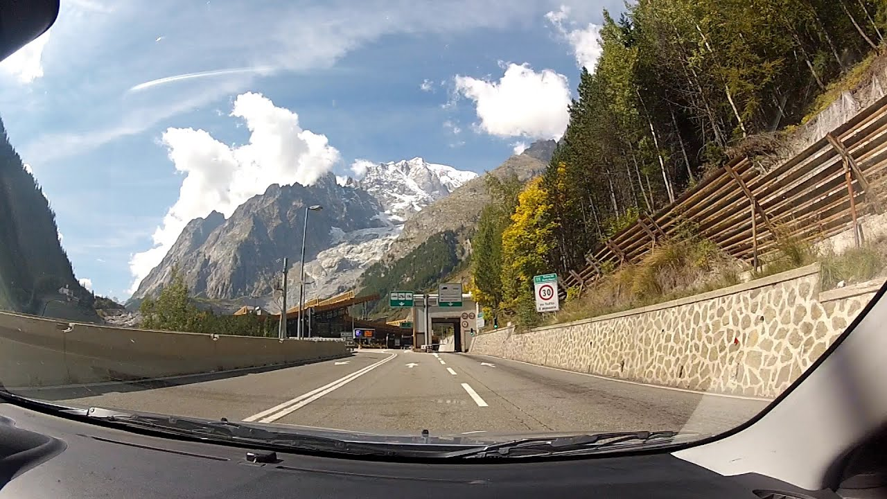 autostrada a5 to mont blanc tunnel facilities aosta valley italy italia onboard camera. Black Bedroom Furniture Sets. Home Design Ideas