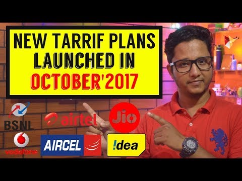 Top Tariff Plans Launched by All Telecom Operators in October 2017   Data Dock