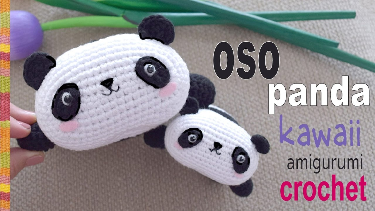 Amigurumi Oso Panda Patron : Oso panda kawaii tejido a crochet amigurumi tejiendo perú