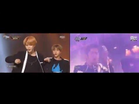 BTS 방탄소년단 & Shinhwa 신화 - Perfect Man 퍼펙트맨  Comparison