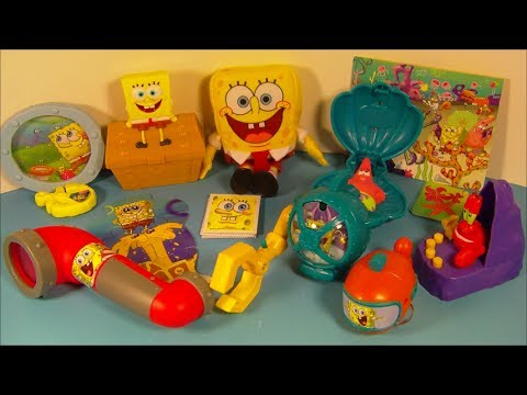 2014 Nickelodeon S Spongebob Squarepants Set Of 8 Mcdonald