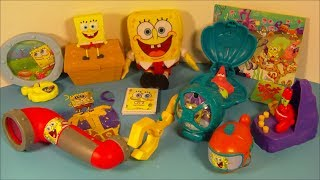 2014 Nickelodeon's Spongebob Squarepants Set Of 8 Mcdonald's Happy Meal Kid's Toy's Video Review
