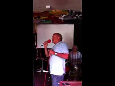 Bilston market. Stan singing