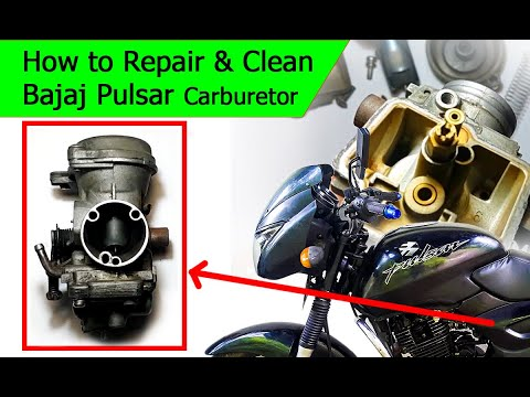 How to clean motorcycle[Bajaj Pulsar] Carburetor at home - Sinhala DIY tutorial - Nipun Jayasena
