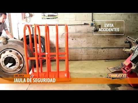 JAULA DE SEGURIDAD PARA INFLADO DE NEUMÁTICOS  | División Gomeria