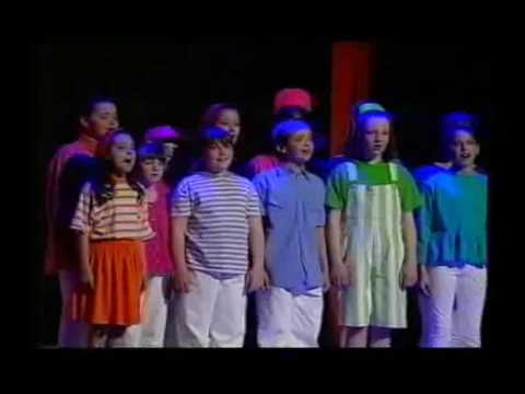 """Philip Schofield sings """"Any Dream Will Do"""" at the 1993 Chidren's Royal Variety Performance"""