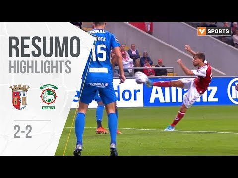 Highlights | Resumo: Sp Braga 2-2 Marítimo (Liga 19/20 #6)
