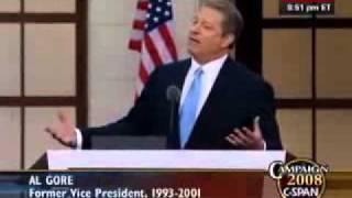 "Al Gore ""singing"" a song by Paul Shanklin entitled ""Ball of Fire"" i..."