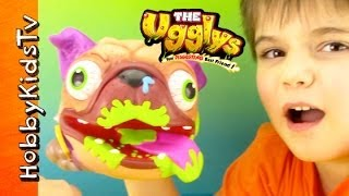 Uggly Pug Dog! The Uggly's Disgusting Best Friend Toy Review Box Open With Hobbykid