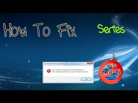 Come Risolvere Error Java Virtual Machine - Tutorial #1