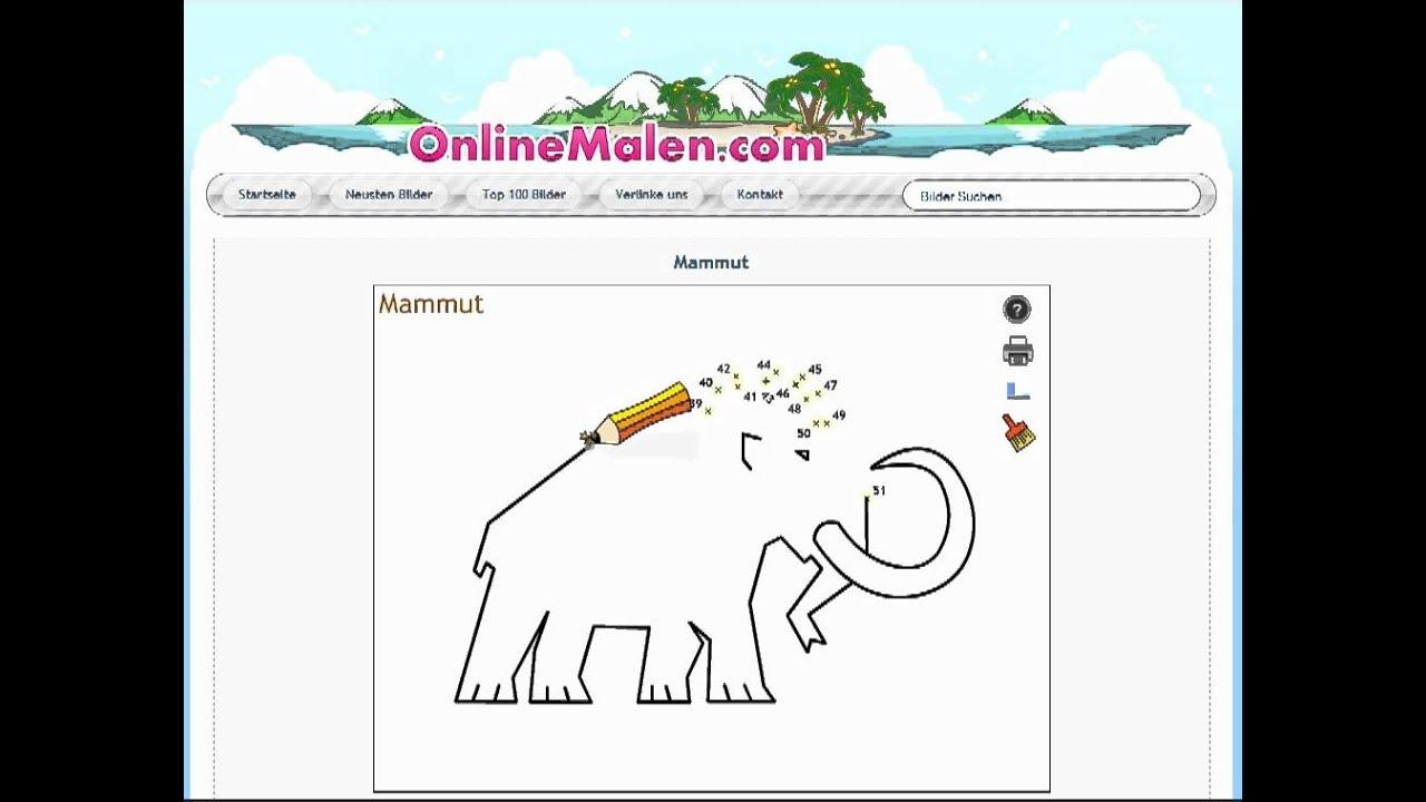 Mammut Online Malen Nach Zahlen Und Ausdrucken Youtube