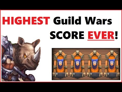 GUILD WARS RECORD SCORE! How To Defeat Strongest Players Bases in Castle Clash