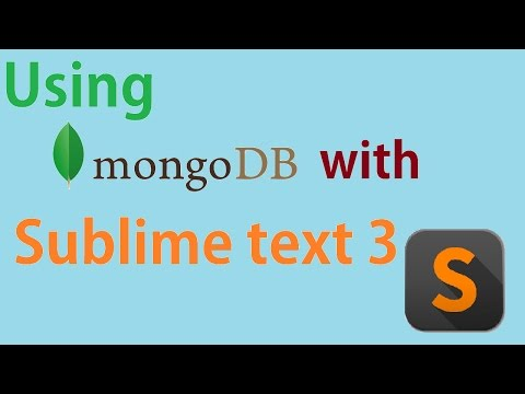 How to Use MongoDB with Sublime text 3?