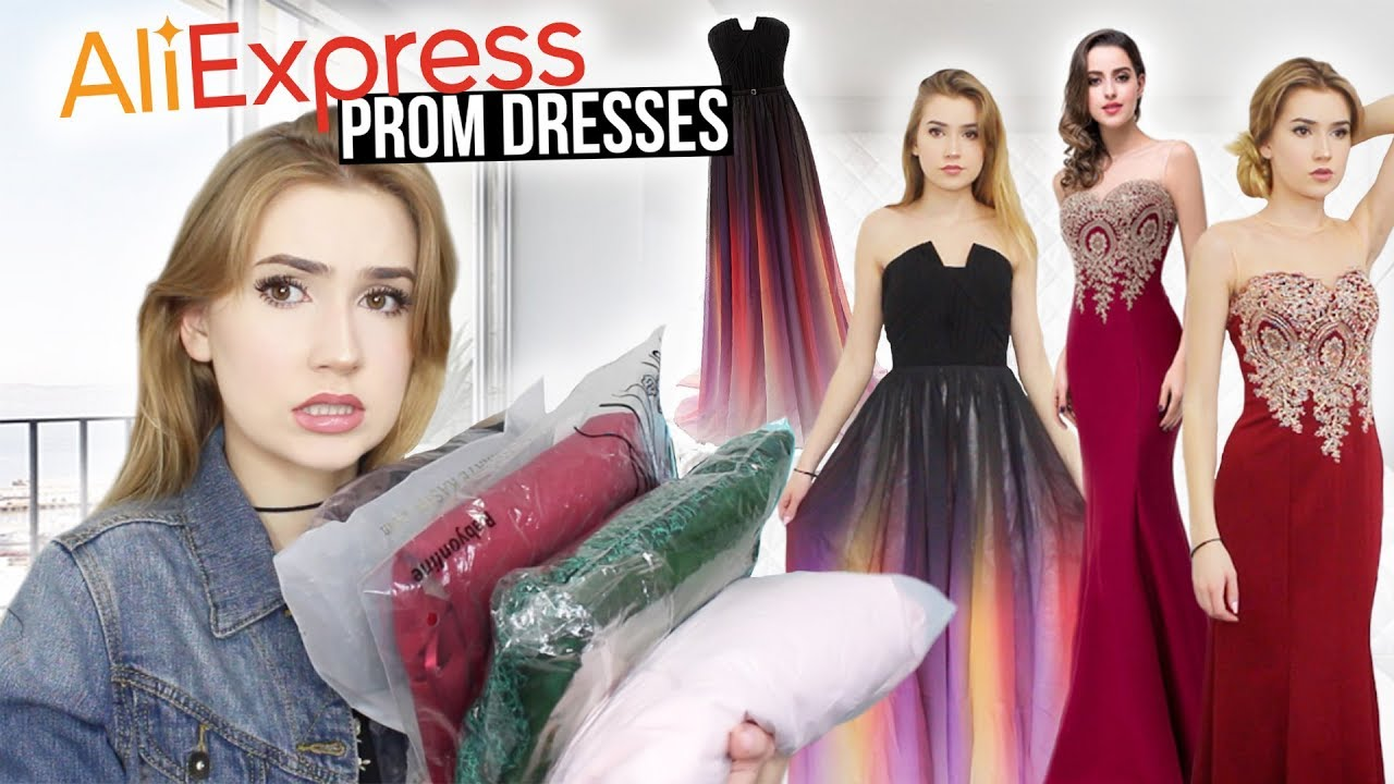 TRYING ON ALIEXPRESS PROM DRESSES!! *Huge Success ...