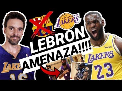 🔥TERREMOTO en LAKERS!!! 💥 LEBRON RENUNCIA!! 😱 Pau GASOL más CERCA!! 👀 NBA