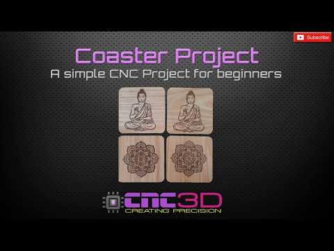Drink coaster project - Spindle & Laser