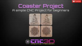 Drink coaster CNC project for beginners using Easel and T2 Laser. **Surprise birthday gift**