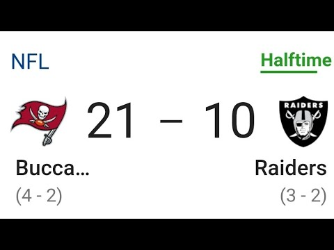 Las Vegas Raiders Fall Behind The Bucs in 2nd Quarter 21 - 10 By Joseph Armendariz