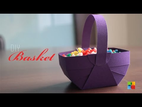 Diy How To Make Basket Out Of Craft Paper Youtube