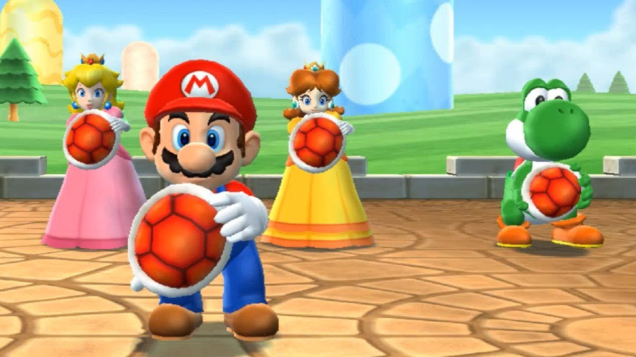 mario party 9 extras goomba bowling mario vs peach vs daisy vs