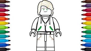 How to draw Lego Lloyd Garmadon (high school outfit) from the Lego Ninjago Movie