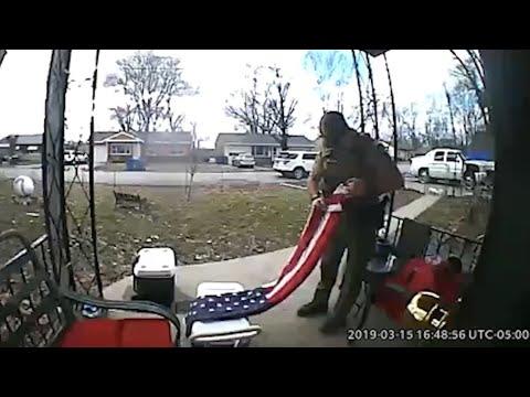 Robin Rock - Doorbell cam shows a veteran's act of kindness