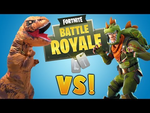 FORTNITE DANCES in real life in NEW T-REX COSTUME!!!